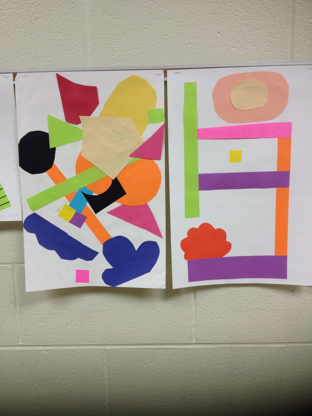 shape collage study. Grades 6-8