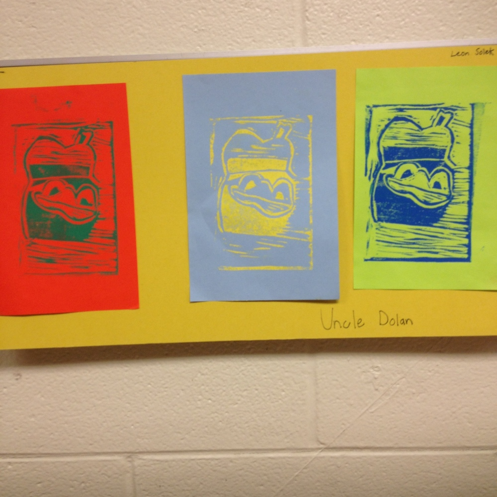 7th grade color theory printmaking