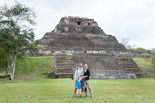 In front of El Castillo.
