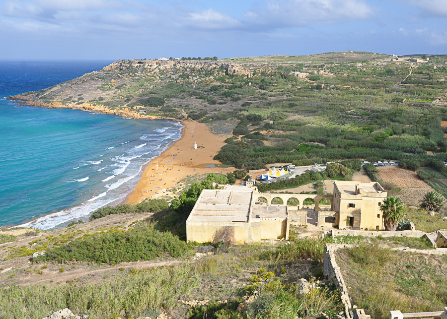 overlooking Ramla Bay, Malta's famous red beach