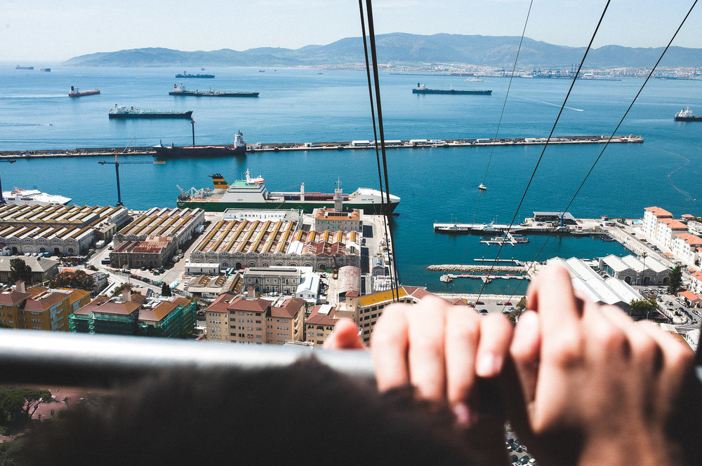 Cable cars up to the Rock of Gibraltar