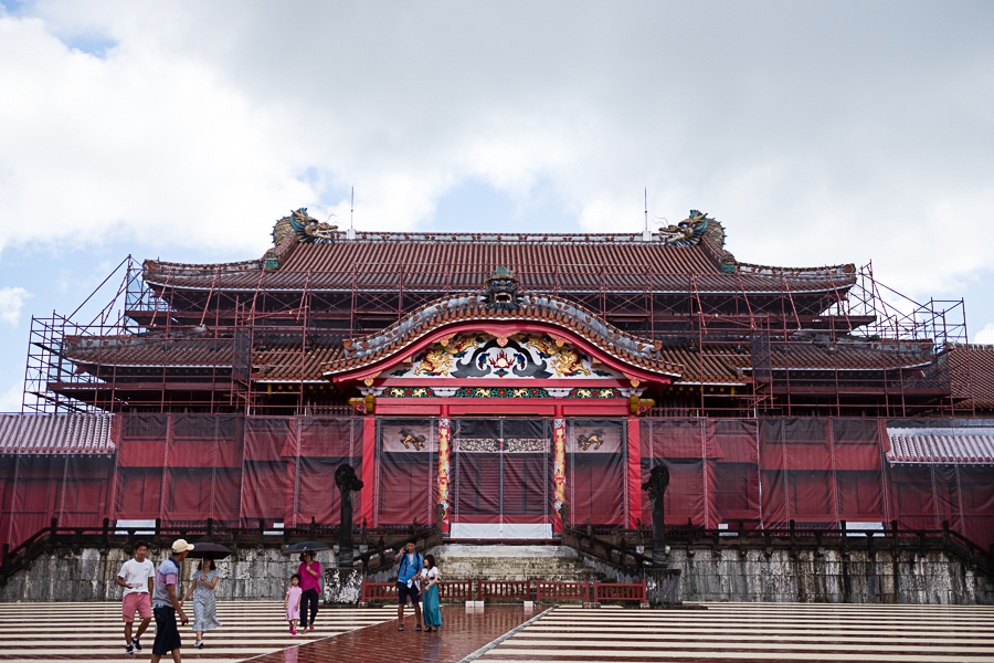 Main building where the king performed his royal duties and greeted emissaries. The entire building is coated with a thick red lacquer that is now being painstakingly stripped and re-applied to protect the wooden structure from mold.