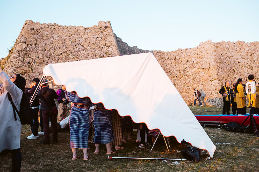 Zo-udui (folk) dancers preparing