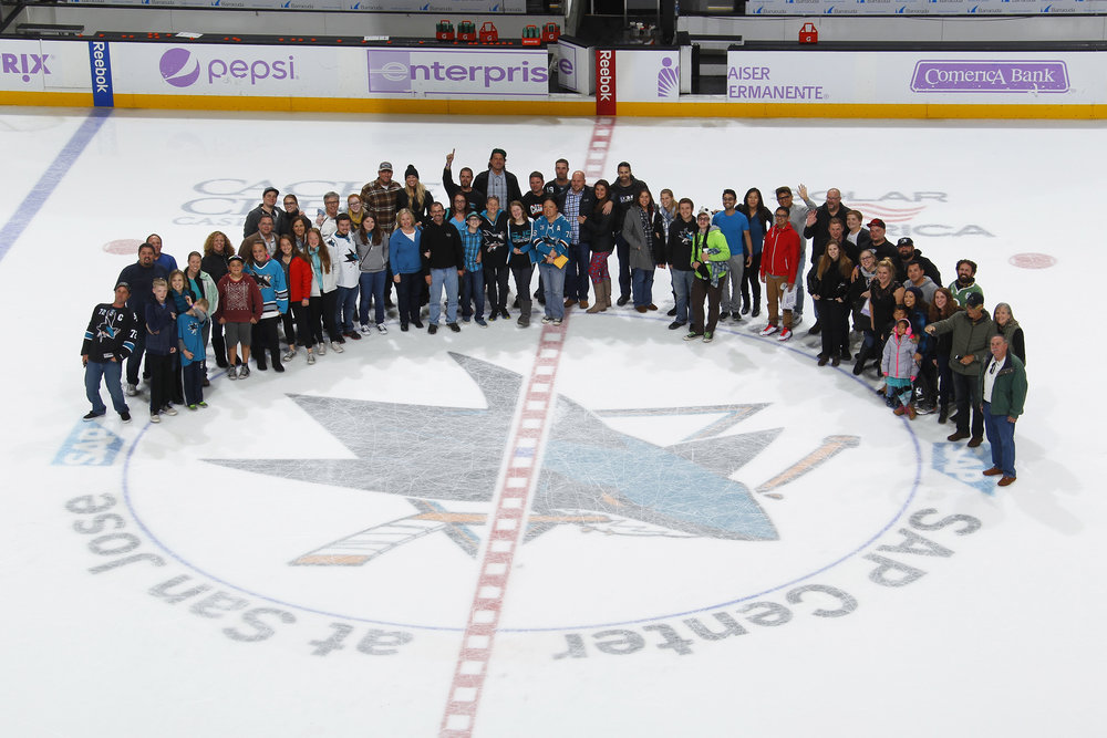 The RSA+ family at The San Jose Sharks game