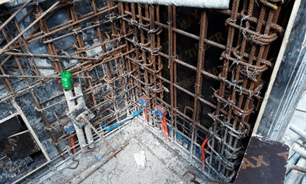d. Installation of 25mmØ equipment drains