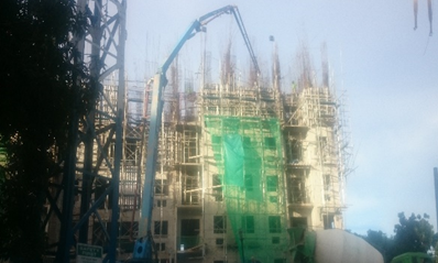 e. Concrete pouring of shear wall