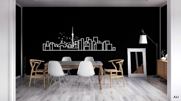 Large-scale wall decal by Ave Maria Abellanosa