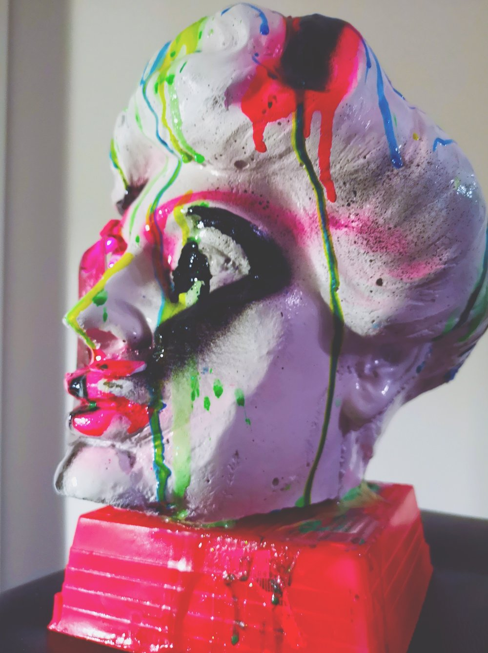 6. LORD MEXA - Want to own a truly unique piece of art? Abstract pop artist Lord Mexa specializes in mixed media compositions and sculptures. Lord created this stunning sculpture titled