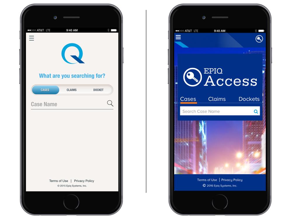 Epiq access app refresh   Epiq Access app gets a facelift after a rebrand.