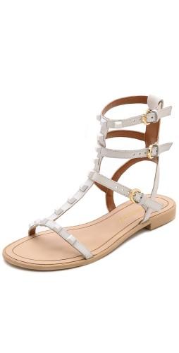 Rebecca Minkoff | Georgina Studded Sandals in Creme