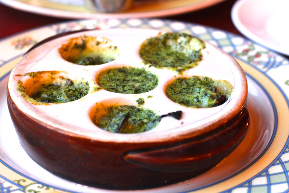 Escargots at Le Bouchon
