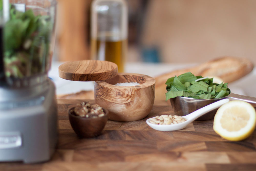 Recipe: Ramp Pesto on Bubbles in Bucktown (bubblesinbucktown.com). Amp up traditional pesto with spring seasonal ramps!