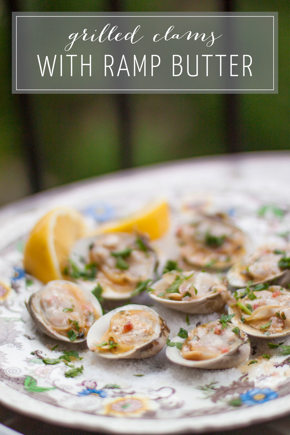 Grilled Clams with Ramp Butter on Bubbles in Bucktown - Summer Grilling Recipes (bubblesinbucktown.com)