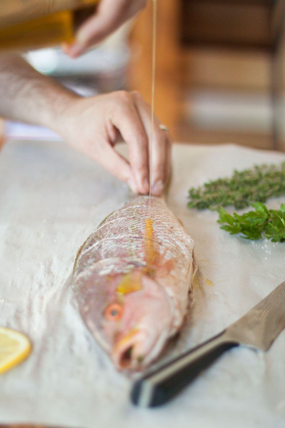 Quick and healthy recipe for Whole Grilled Fish on Bubbles in Bucktown (bubblesinbucktown.com)