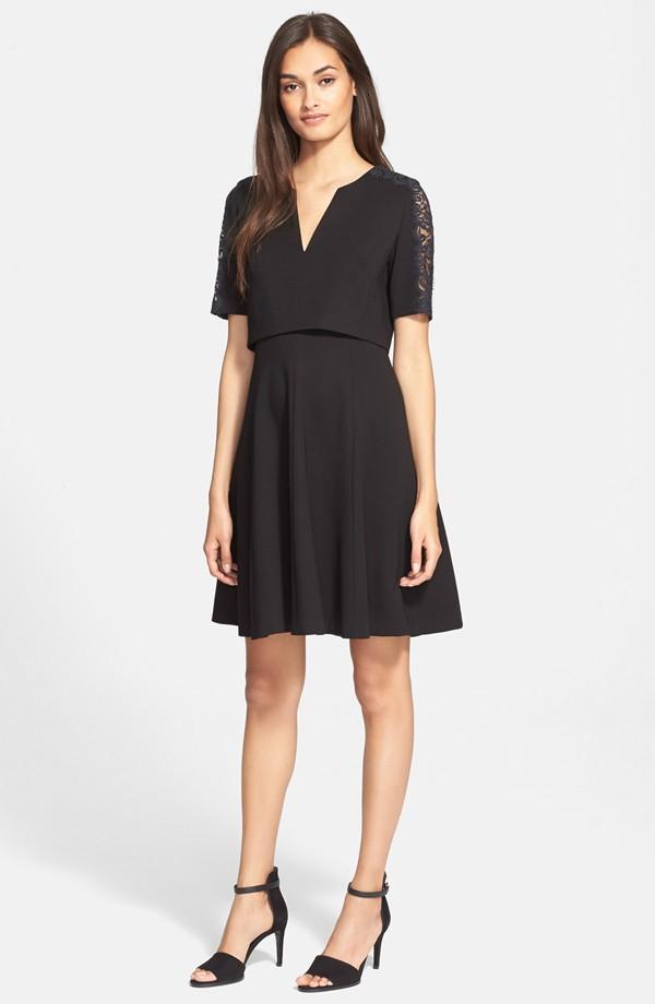 Rebecca Taylor V-Neck Ponte Dress