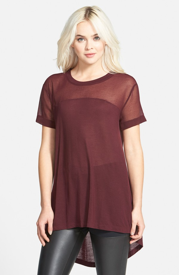 Leith Drapey Tunic in Burgundy Stem