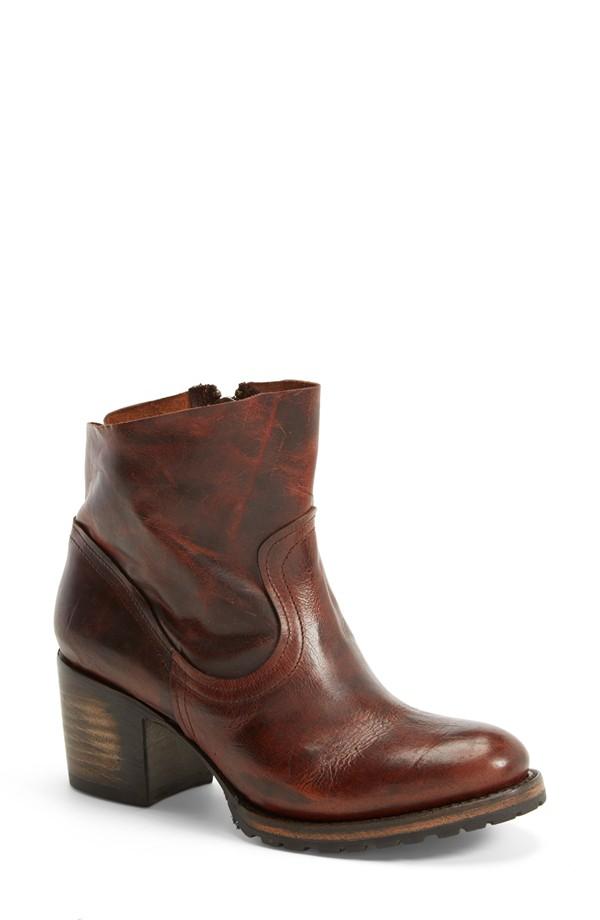 Freebird by Steven 'Flint' Distressed Ankle Bootie in Cognac Leather