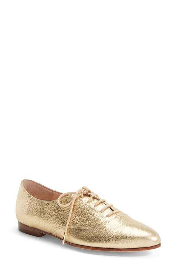 kate spade new york 'carmila' oxford in Gold Tumbled Calf