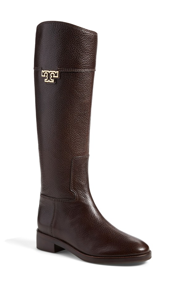 Tory Burch 'Joanna' Riding Boot in Coconut Leather