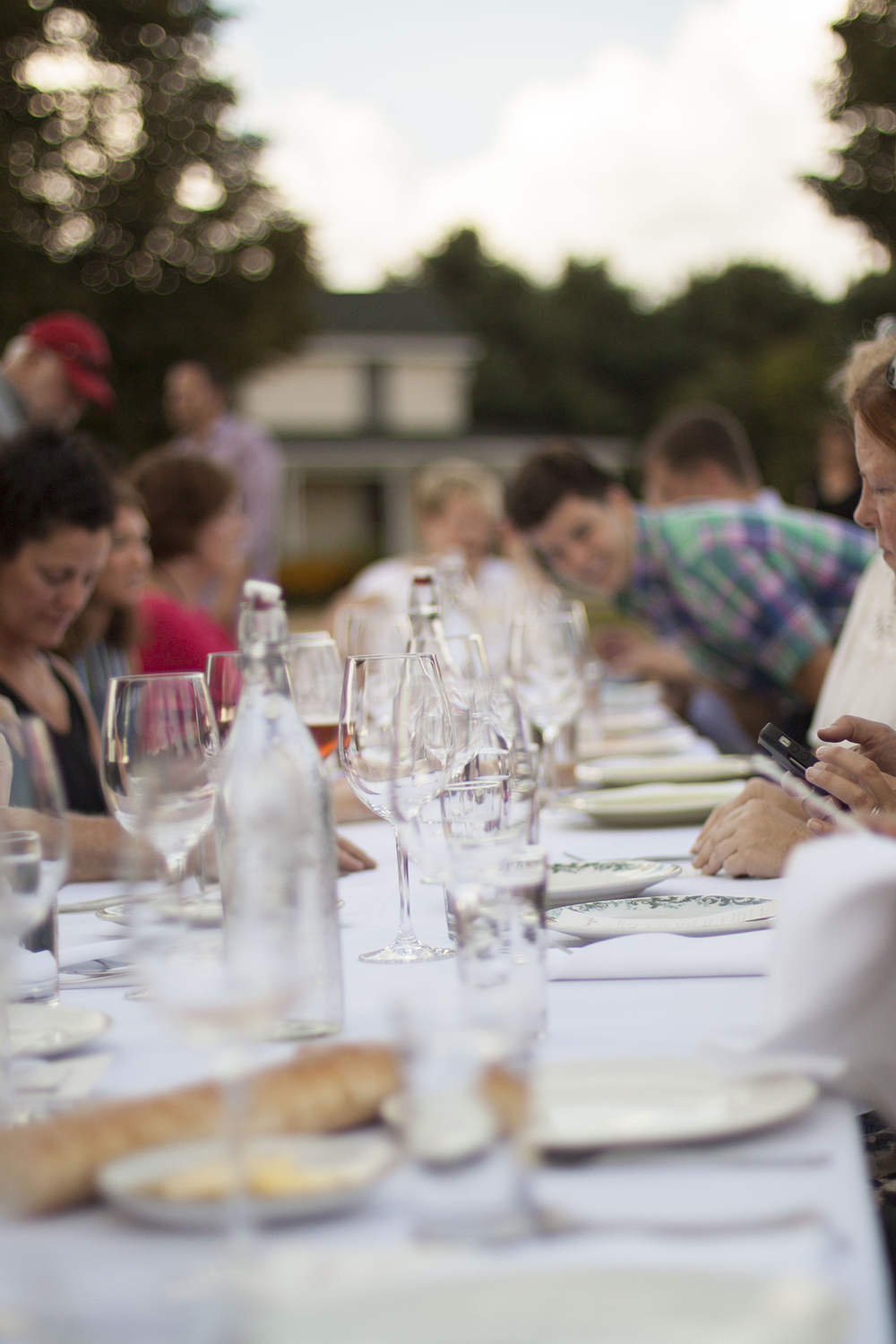 Communal Dining at Outstanding In The Field at Kinnikinnick Farm - by Bubbles in Bucktown