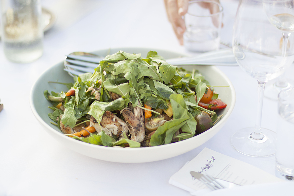 Grilled Chicken Salad at Outstanding In The Field at Kinnikinnick Farm - by Bubbles in Bucktown
