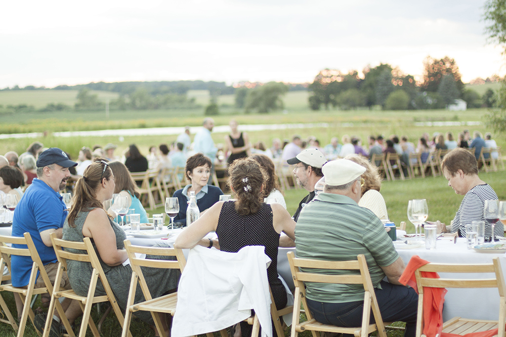 The Winding Tables at Outstanding In The Field at Kinnikinnick Farm - by Bubbles in Bucktown