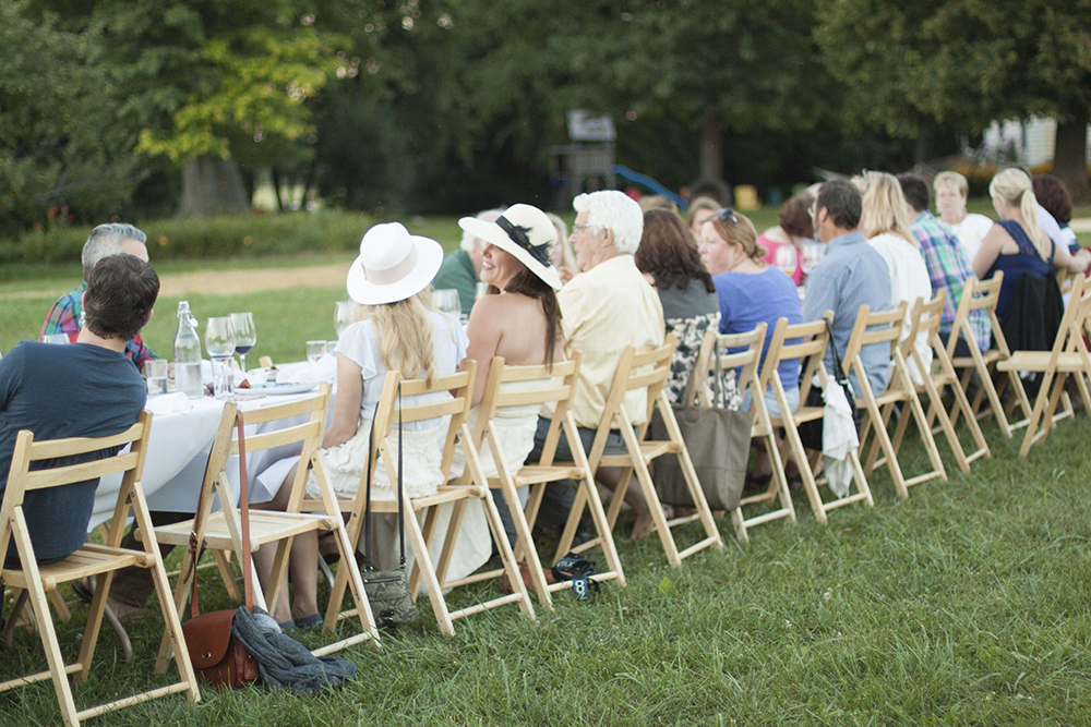 Communal Seating at Outstanding In The Field at Kinnikinnick Farm - by Bubbles in Bucktown
