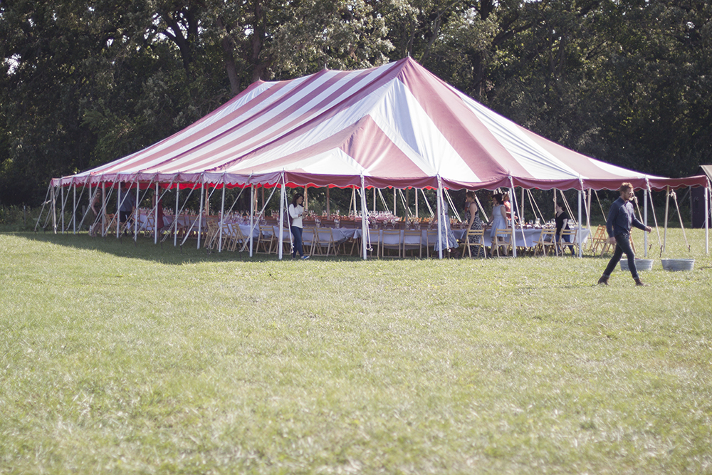Tented Tables at Outstanding In The Field at Kinnikinnick Farm - by Bubbles in Bucktown