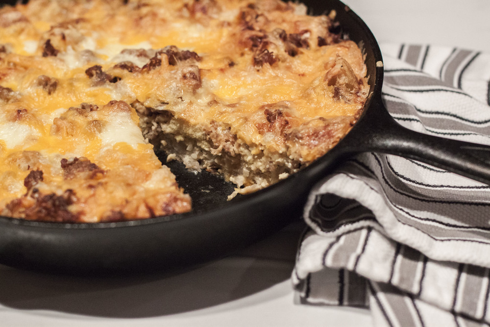 Recipe for Jeff Mauro's Hash Brown Casserole on Bubbles in Bucktown - bubblesinbucktown.com