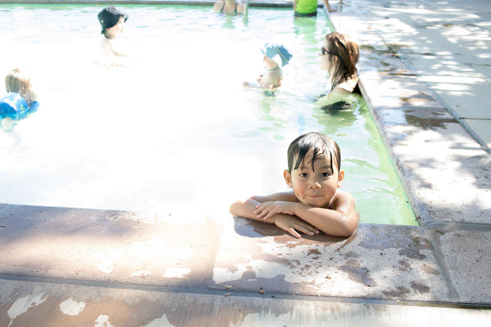 A wonderfully warm two-foot pool for the kids to frolic.