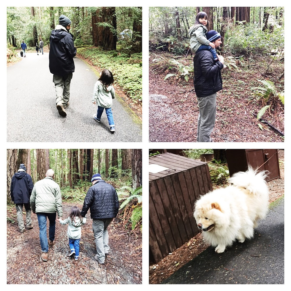 "Leah and her many uncles. Also, isn't this dog - Hakishi or ""Fluffy"" so adorable?!?!"