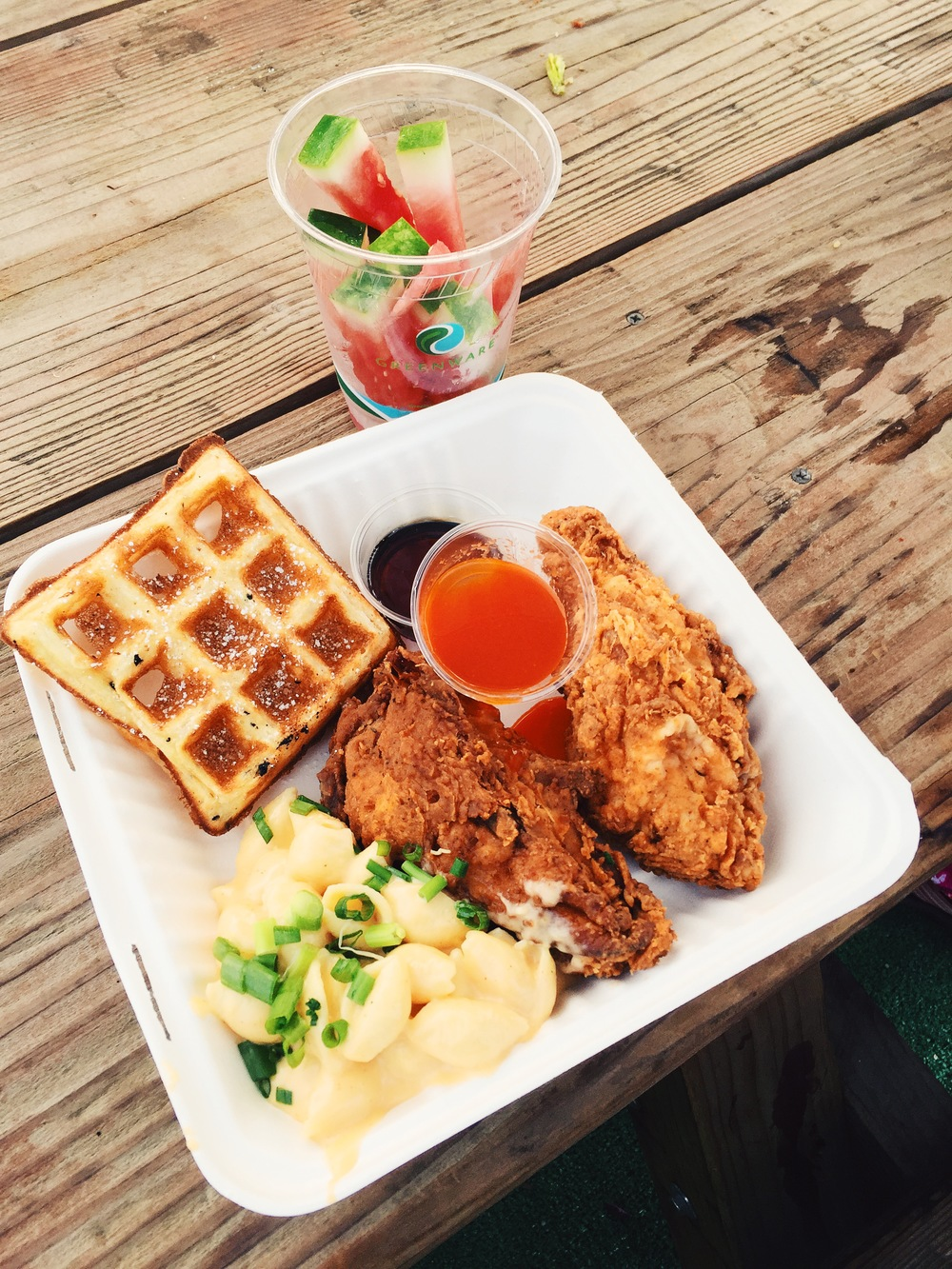 Chicken and waffles. Amazing!