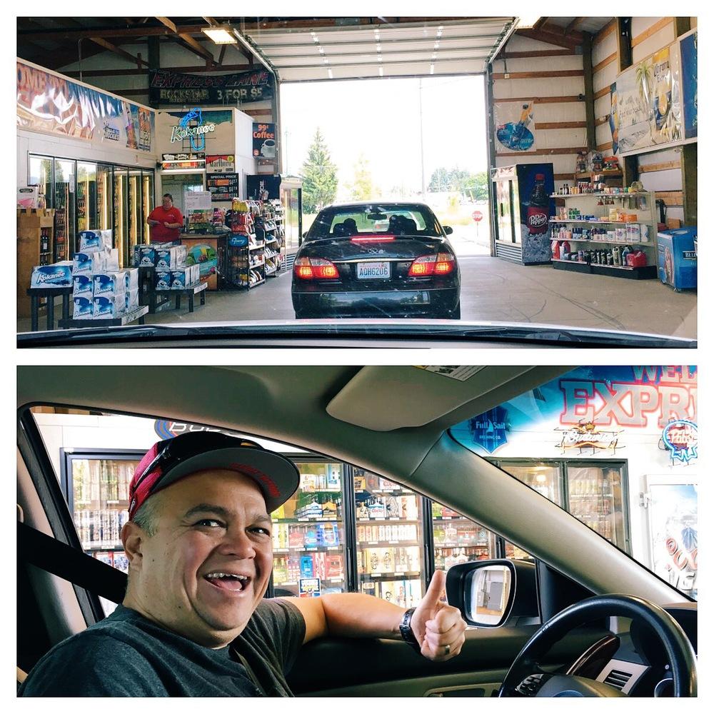 Drive-thru convenience store? Score!