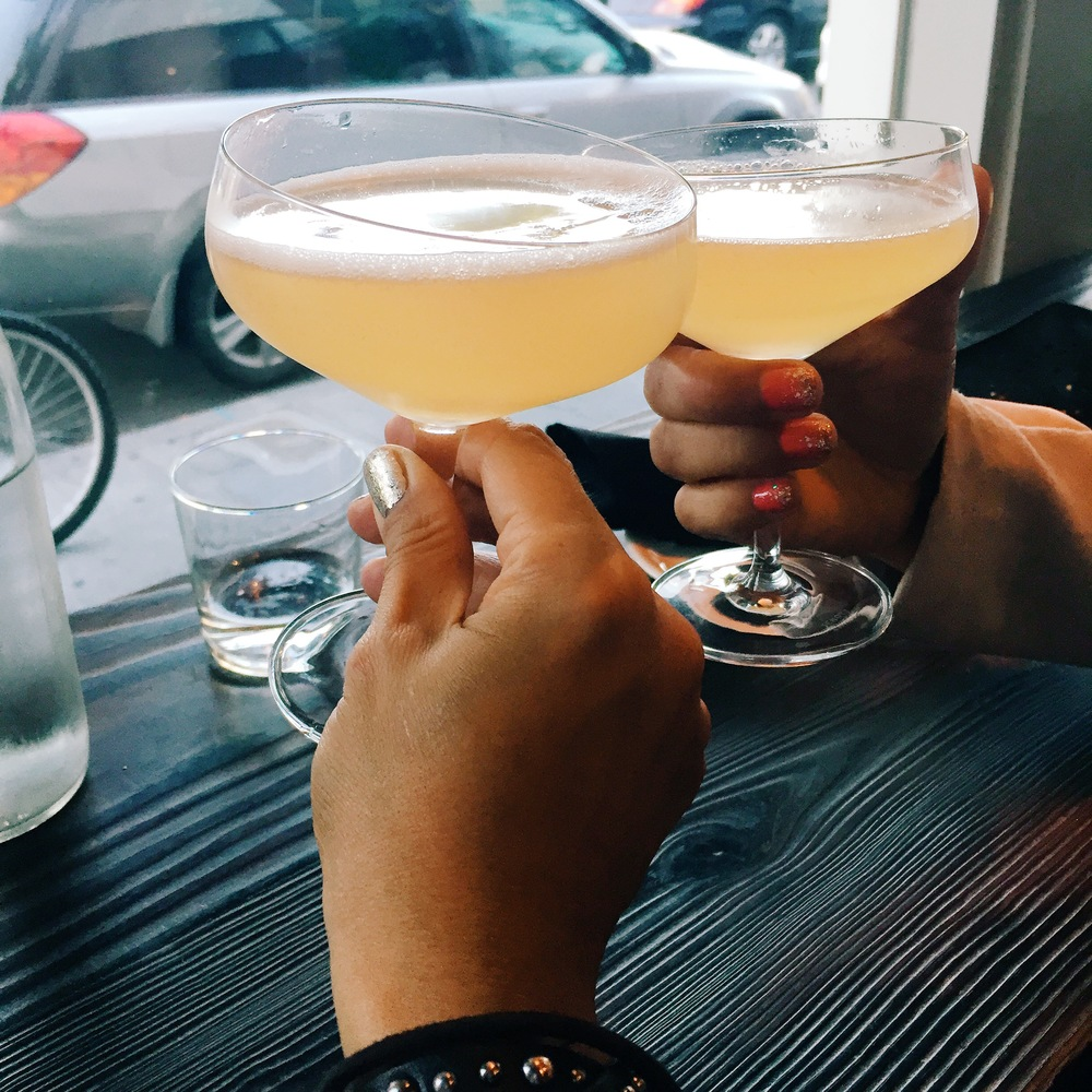 Paloma Rosa: manzanilla sherry, lillet blanc and grapefruit. Refreshing!