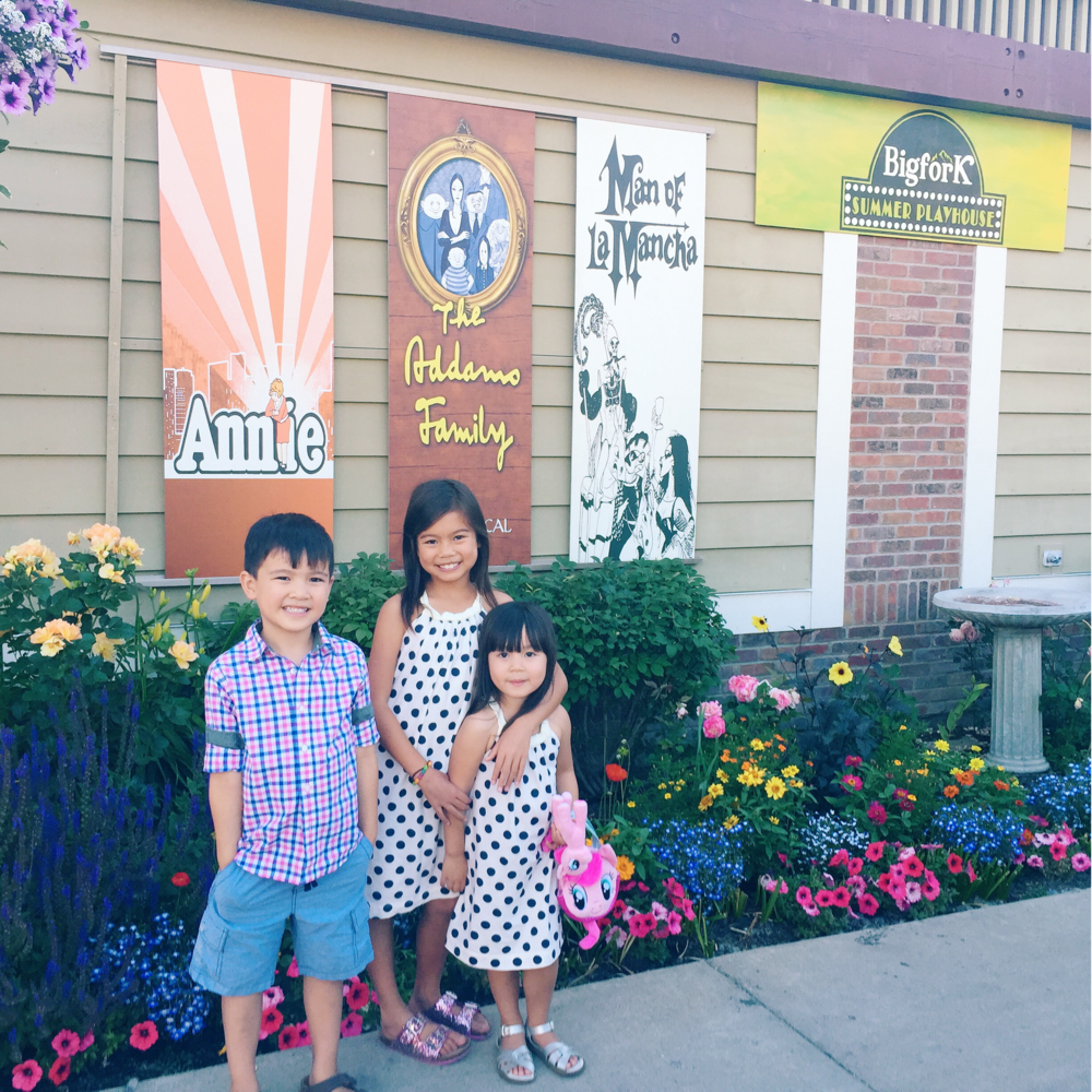 My husband surprised the kids with the musical Annie at the Big Fork Summer Playhouse.