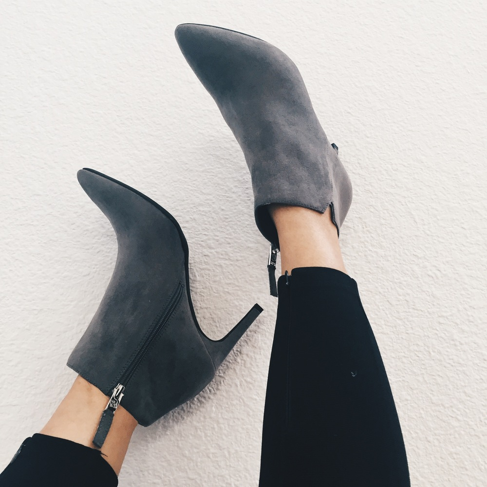 These chic suede booties are the most comfortable thing and they are from Target. A must have for your fall wardrobe.