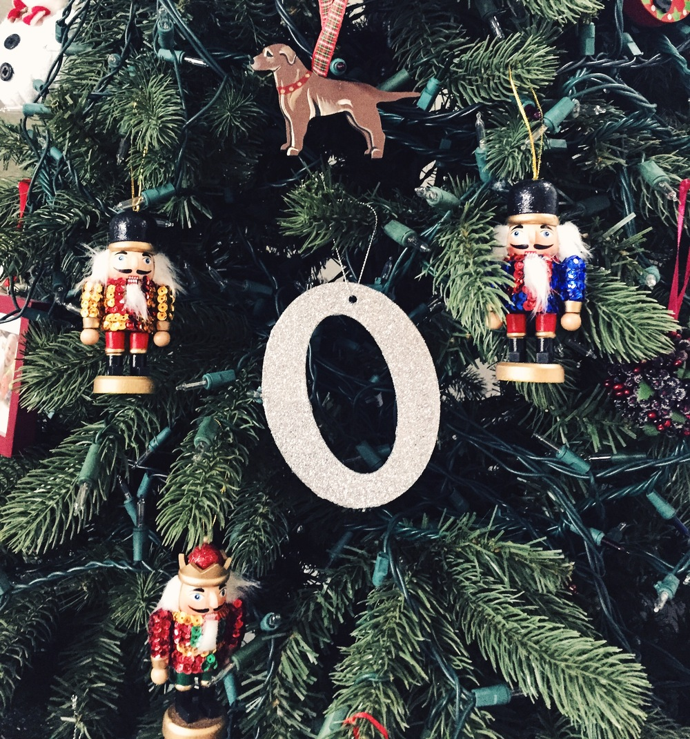 "New ornament ""O"" from  Target ."