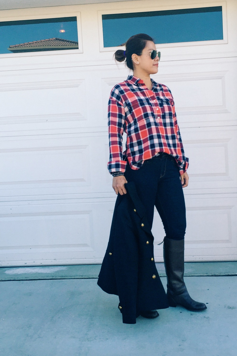 Plaid shirt  from Old Navy.