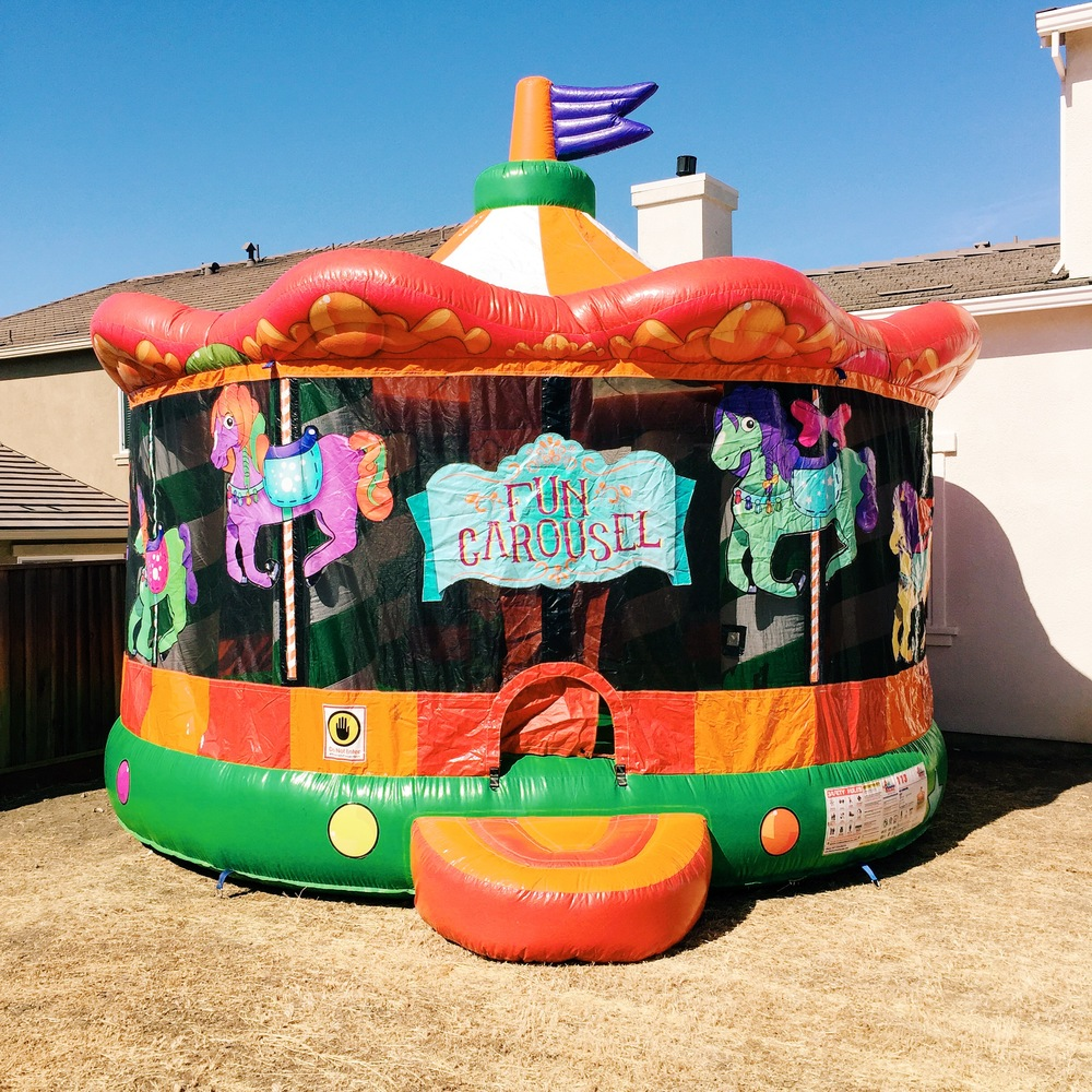 It's not a party without a bounce house!