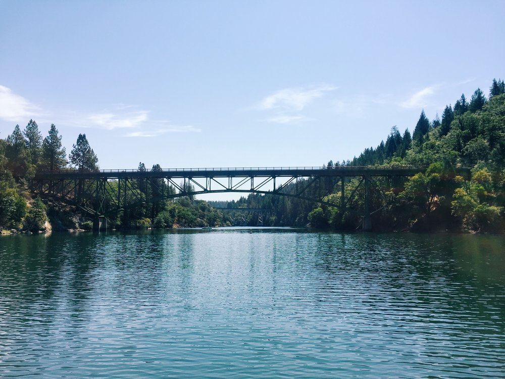 "The famous bridge from the movie ""Stand By Me."""