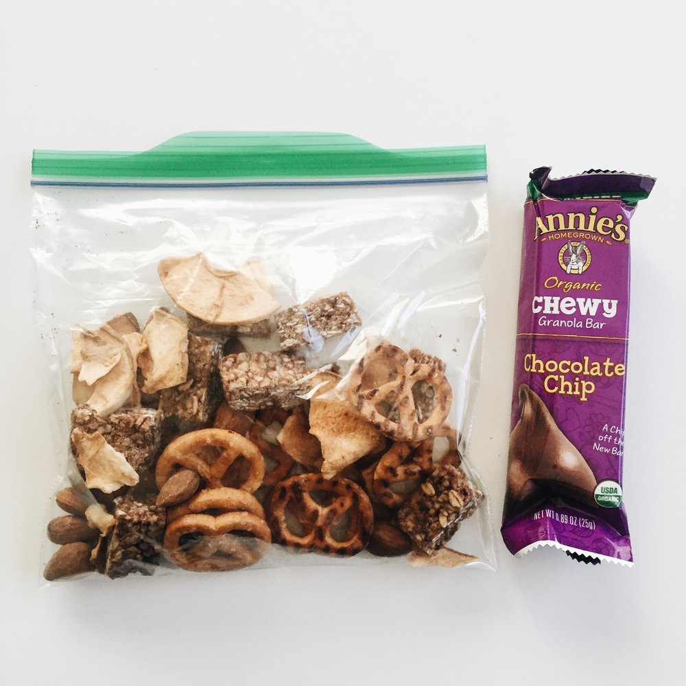 Perfect on-the-go mixed snacks.