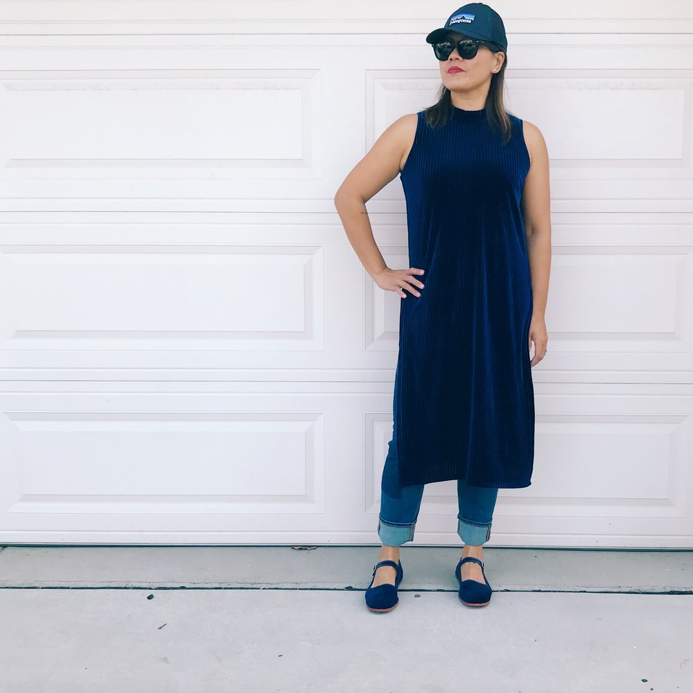 Momlikethat - boho velvet dress morning look.JPG