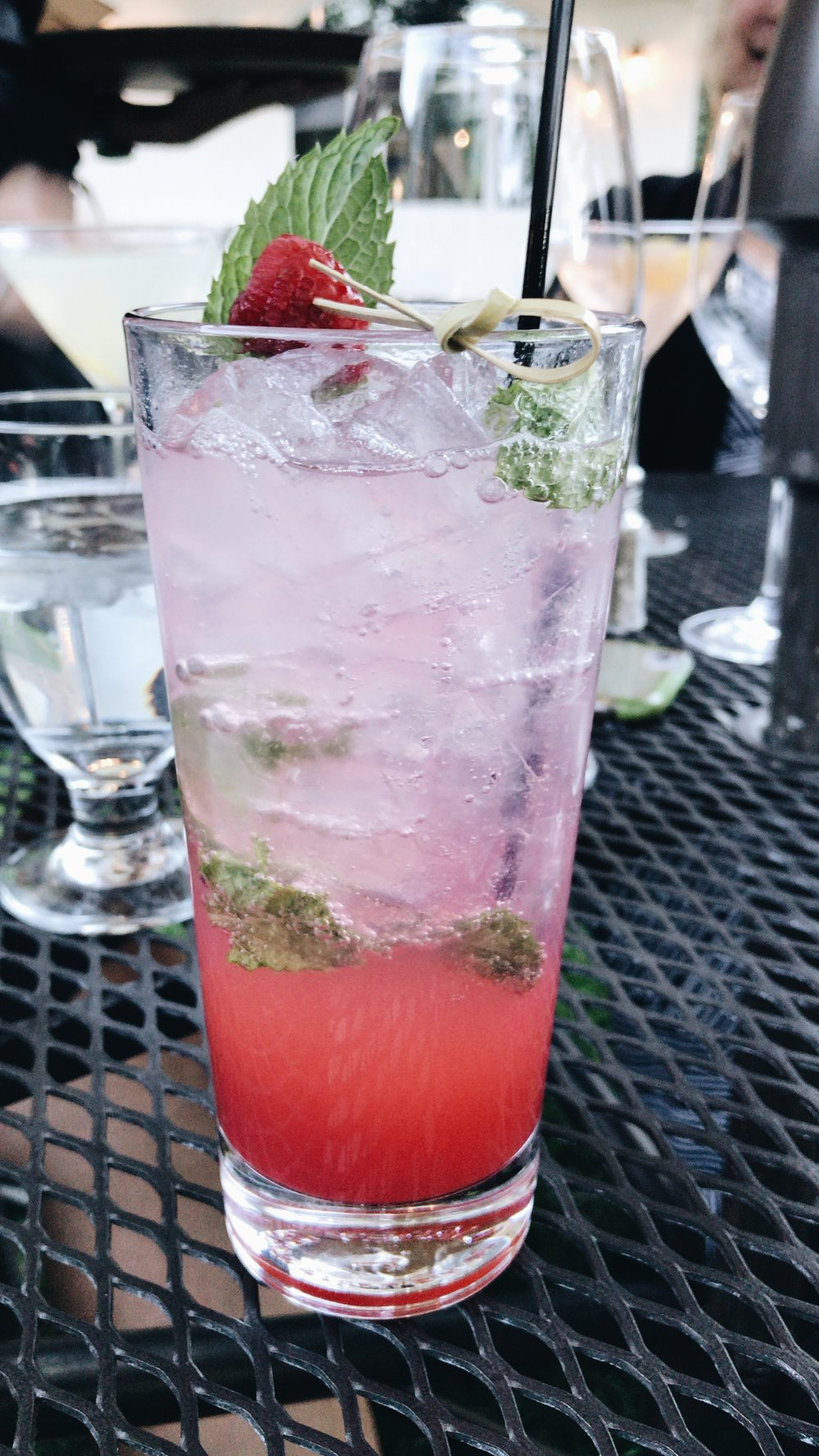 Rasberry Mojito from  Grill at Knob Hill .