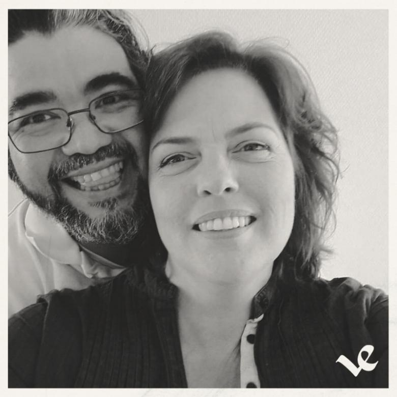 Daniëlle met man en partner-in-crime Louis Vergara