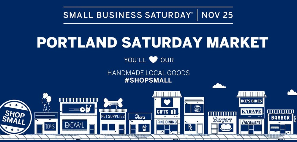 Small Business Saturday- Nov 25th - Find me at the Portland Saturday Market in space 904 to get 15% off everything in our booth. This is a great option for those looking to check a lot of presents off your list in one day. We are one of 200 vendors at the market, many of whom are offering similar sales.