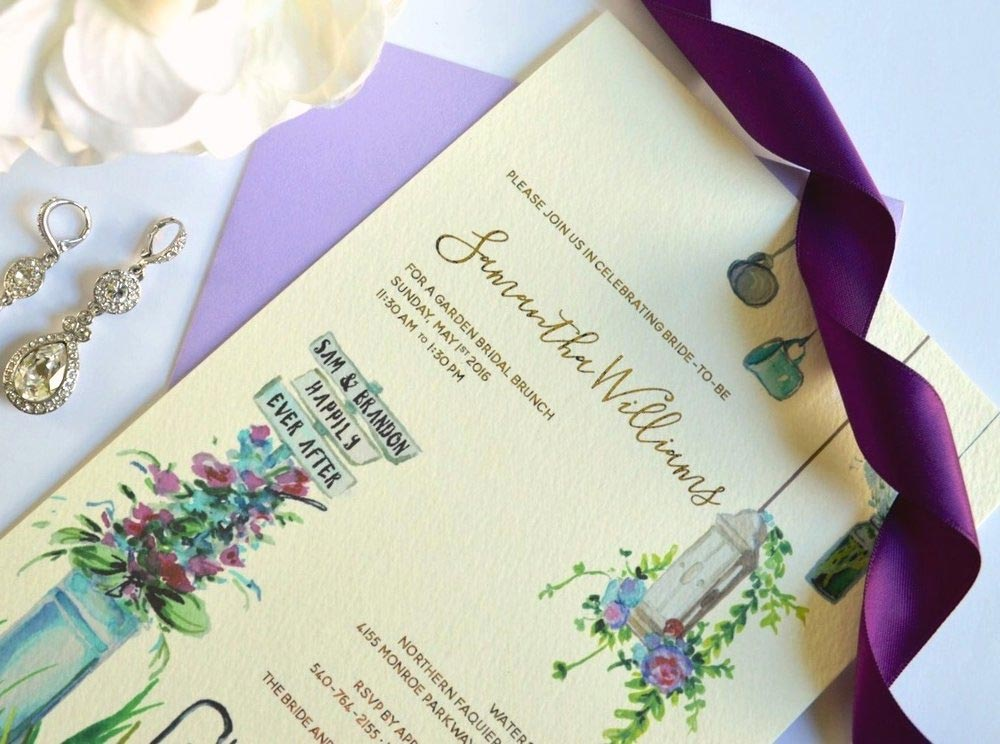 Type-A-Invitations-Mom-in-Manolos-Custom-Wedding-Shower-Invitation-garden.jpg
