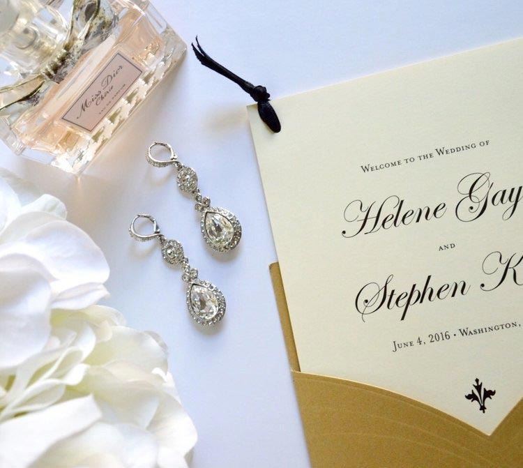 Type-A-Invitations-Mom-in-Manolos-Gold-Cream-Wedding-Program.jpg