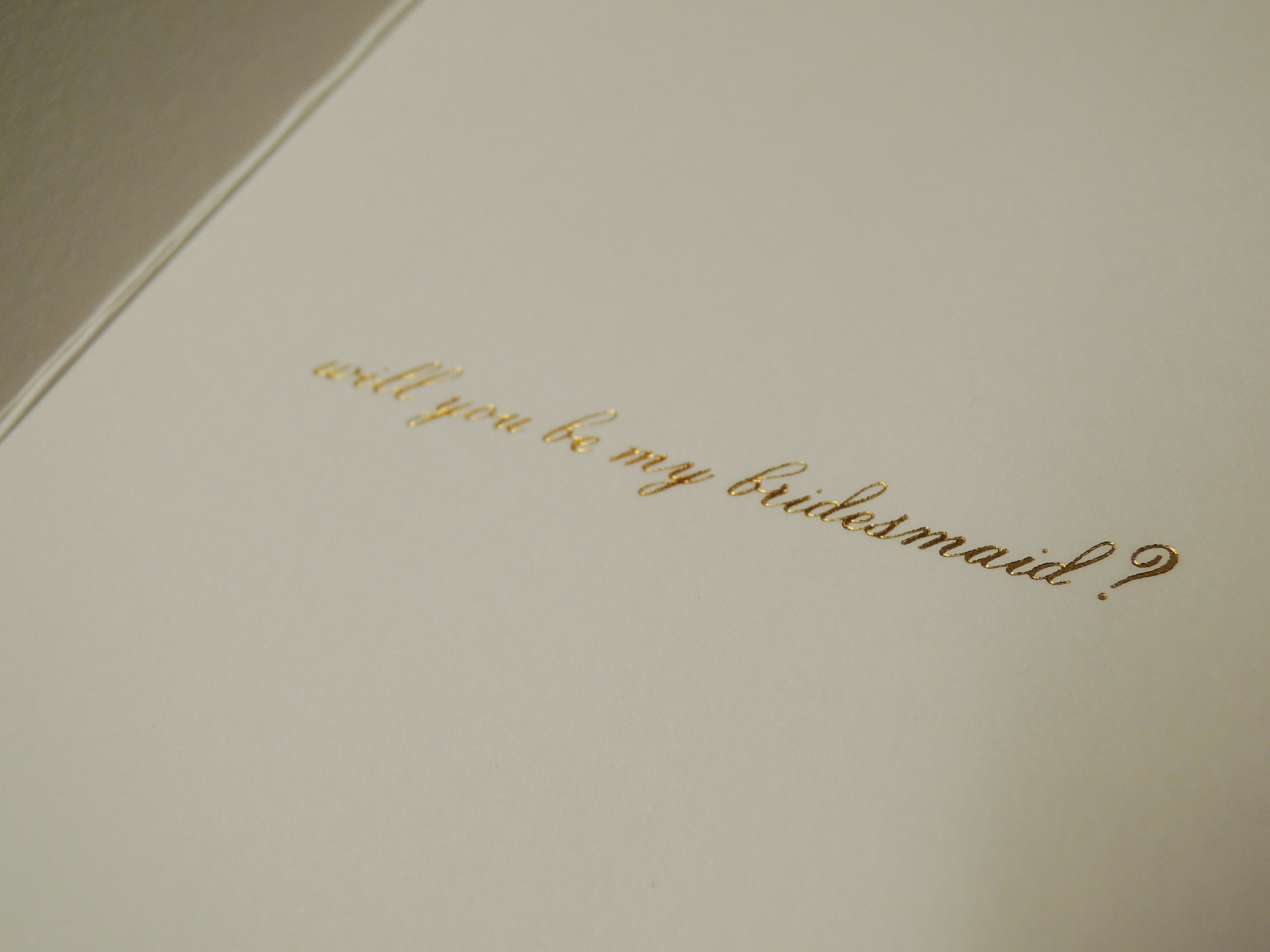 Will You Be My Bridesmaid Kate Spade Type A Design