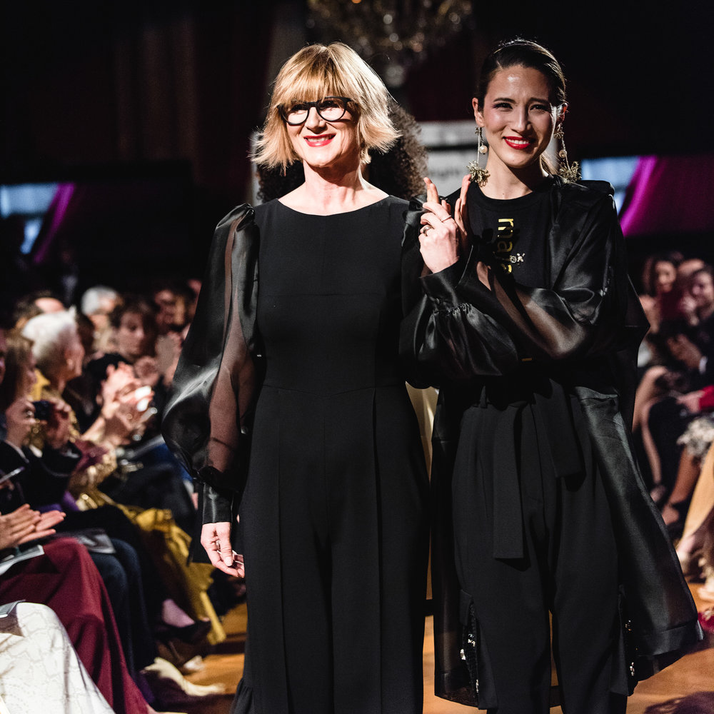 Left: Maja Štamol - Renowned Slovenian Fashion Designer