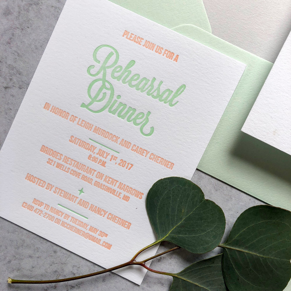 Traditional Wording Rehearsal Dinner Card